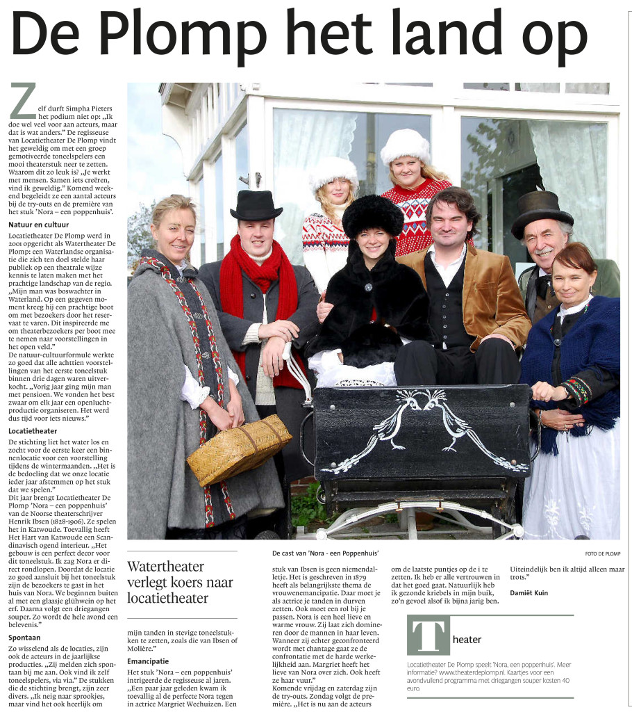 NHD artikel Locatietheater Plomp